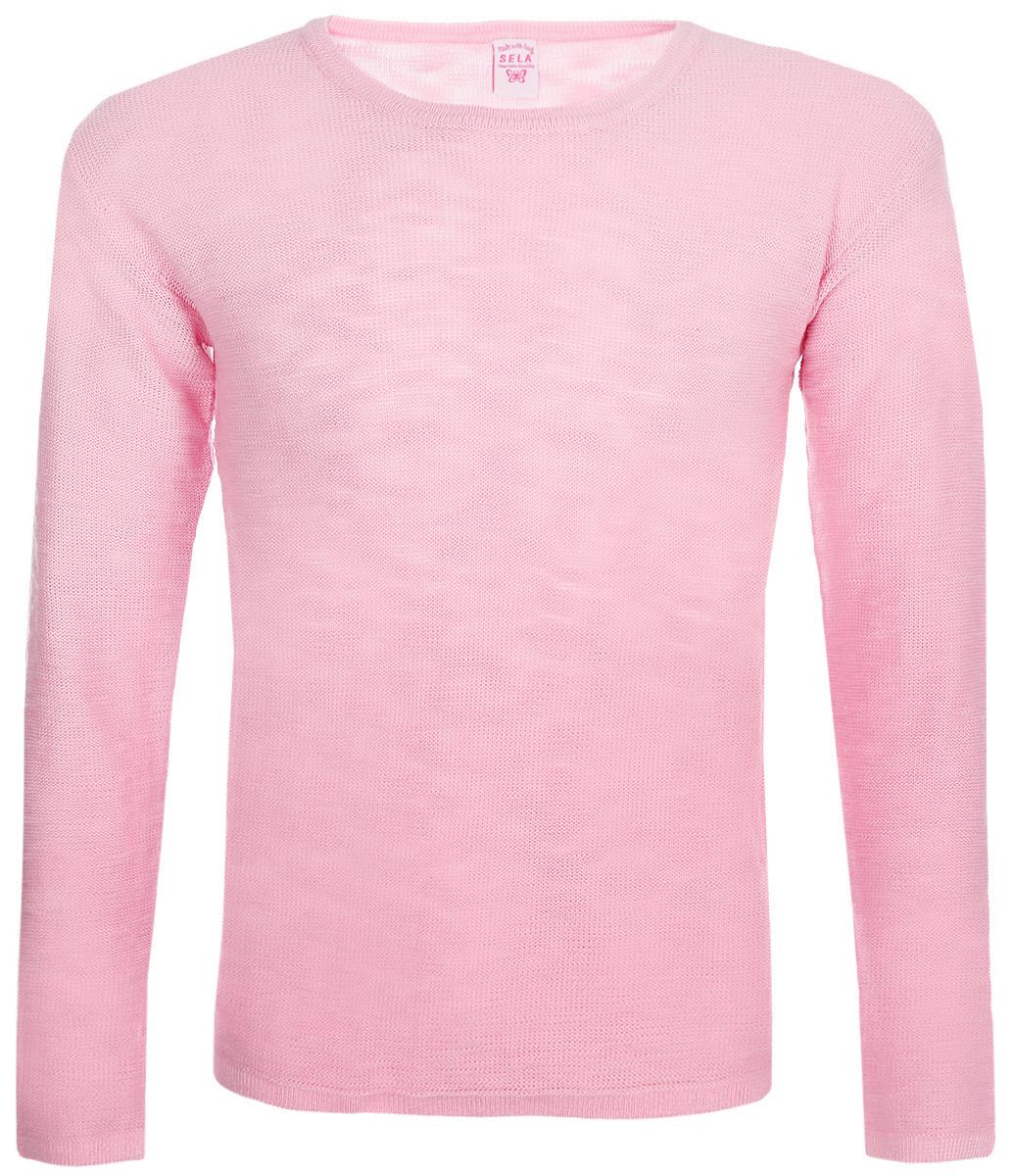 Джемпер для девочки Sela, цвет: розовый. JR-614/972-8161. Размер 152 цена
