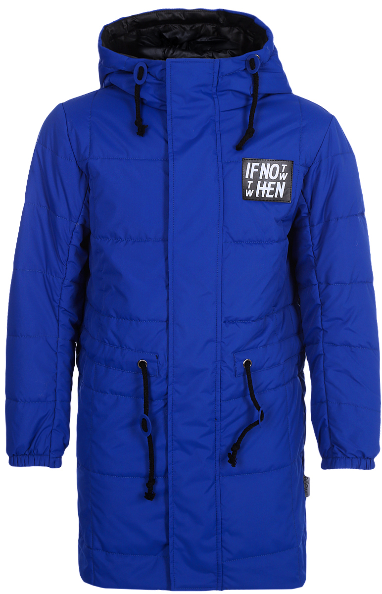 Пальто для мальчика Boom!, цвет: синий. 80041_BOB. Размер 152