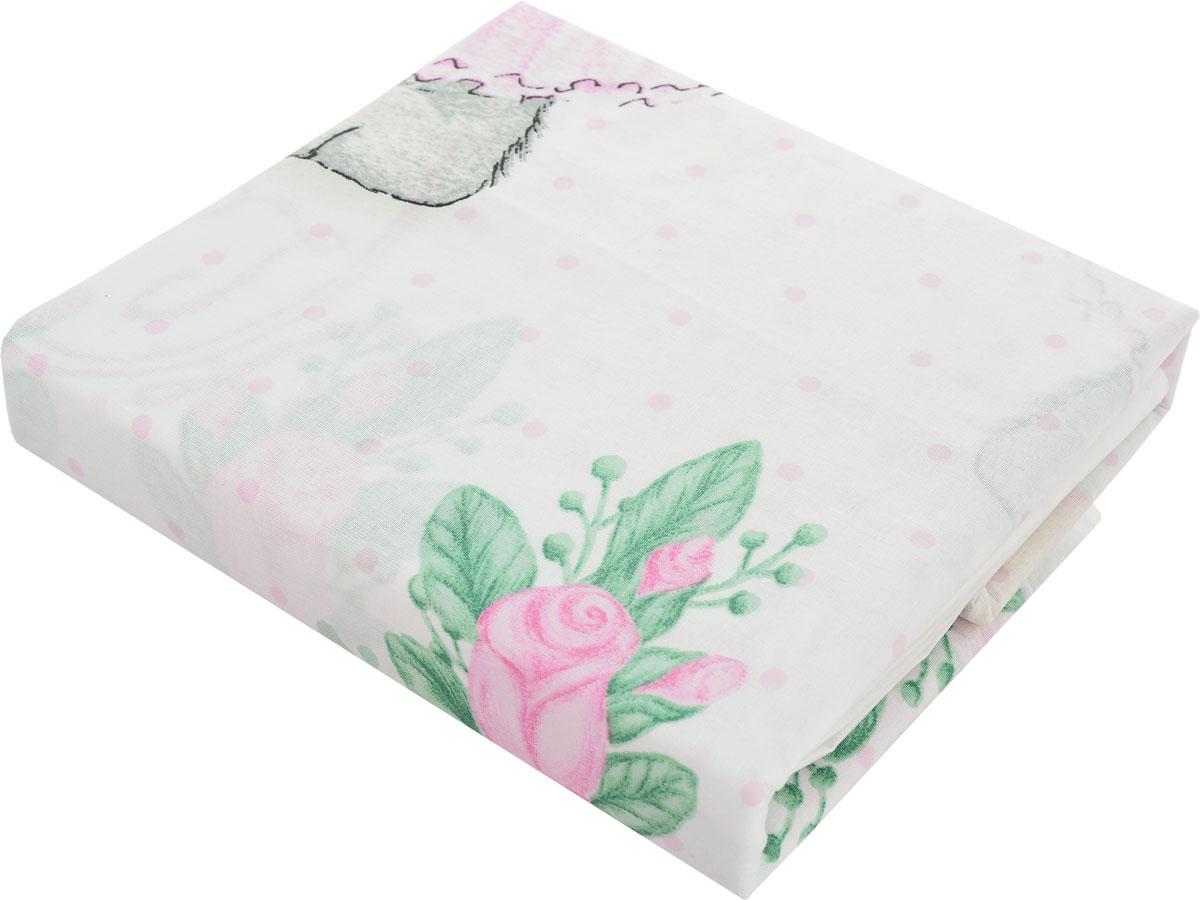 Непоседа Комплект детского постельного белья Зайка балерина цвет розовый 3 предмета395532