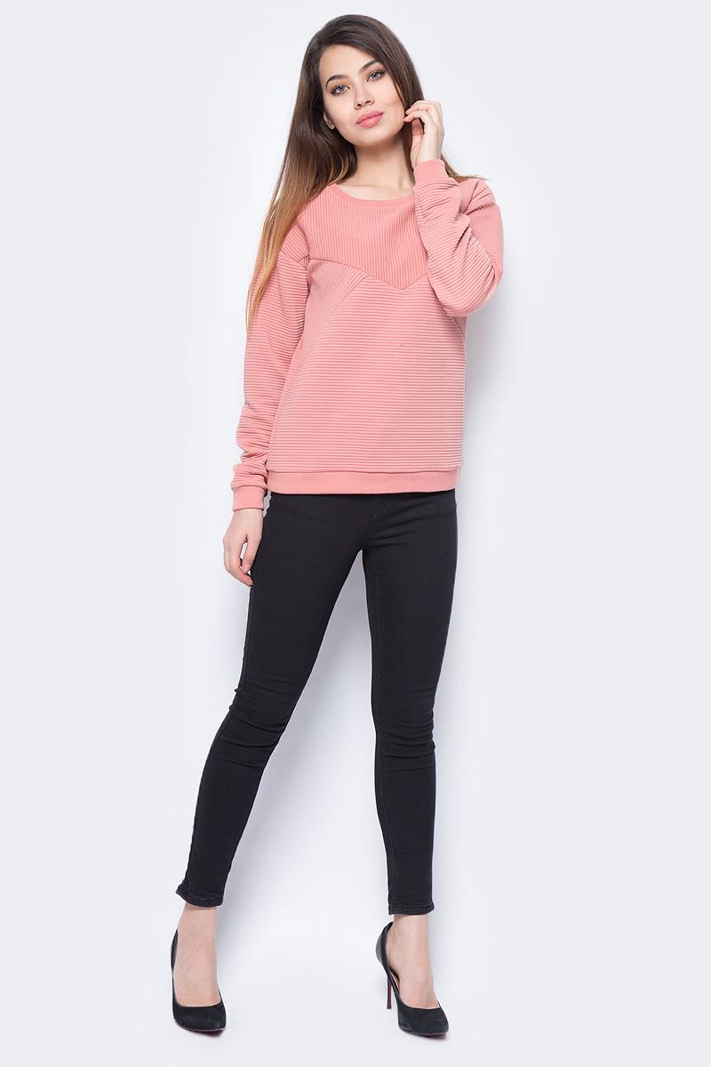 Свитшот женский Vero Moda, цвет: розовый. 10190181_Old Rose. Размер M (44)10190181_Old RoseЖенский свитшот от Vero Moda выполнен из высококачественного трикотажа. Модель с длинными рукавами со спущенным плечом и круглым вырезом горловины.