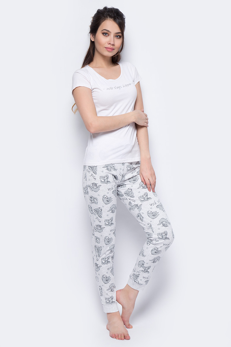 Брюки женские Sela, цвет: светло-серый. PH-165/012-8142. Размер XS (42)PH-165/012-8142