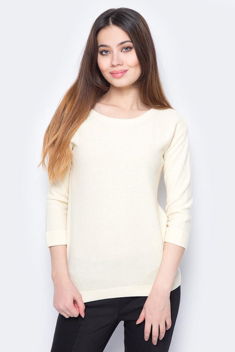 Джемпер женский Sela, цвет: светло-желтый. JR-114/698-8111. Размер XXL (52)