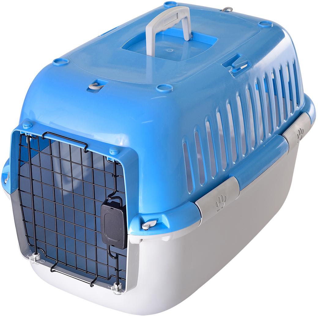 Переноска для животных Fauna Explorer Sport, цвет: голубой, серый, 57 х 38 х 38 смFITP-8016Переноски имеют металлические дверцы, надежные замки. Корпуса выполнены из прочного пластика.