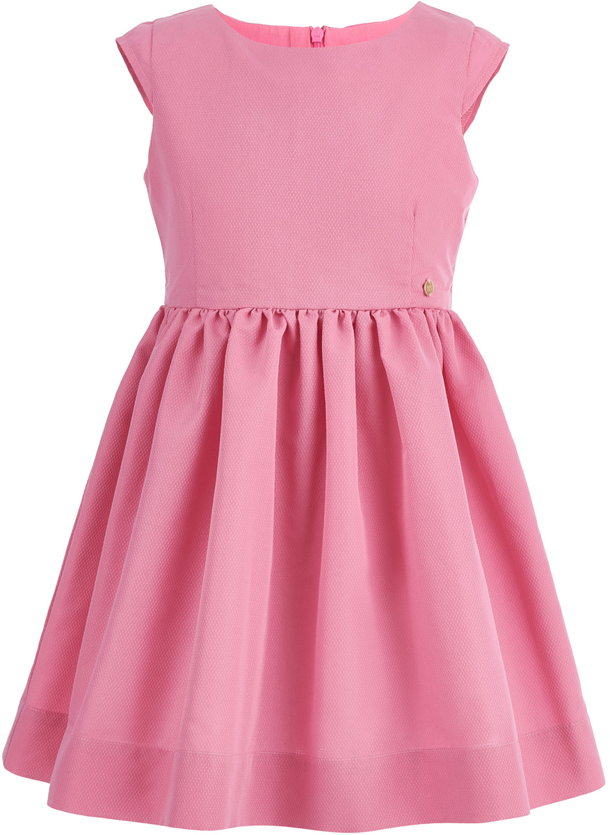 Платье для девочки Button Blue, цвет: розовый. 118BBGC25031200. Размер 110118BBGC25031200Лаконичная форма платья для девочки от Button Blue, удобный свободный силуэт и приятный цвет делают его особенно привлекательным для юных модниц. Модель с короткими рукавами и круглым вырезом горловины на спинке застегивается на потайную молнию. Чтобы порадовать девочку, ей можно купить недорого детское платье, подходящее и для повседневного ношения, и для походов на детские вечеринки.