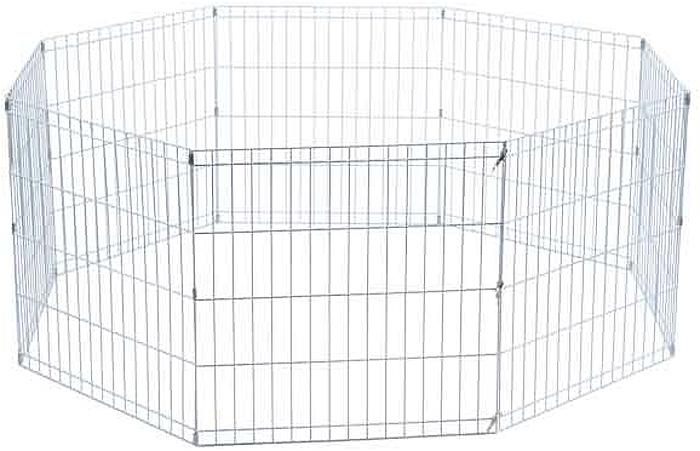 Манеж для животных Savic Park, 61 х 61 см3286-0095Манеж металлический с дверцей для изолированного содержания собаки на улице. Состоит из 6-ти решеток, легко собираемых в замкнутый манеж.