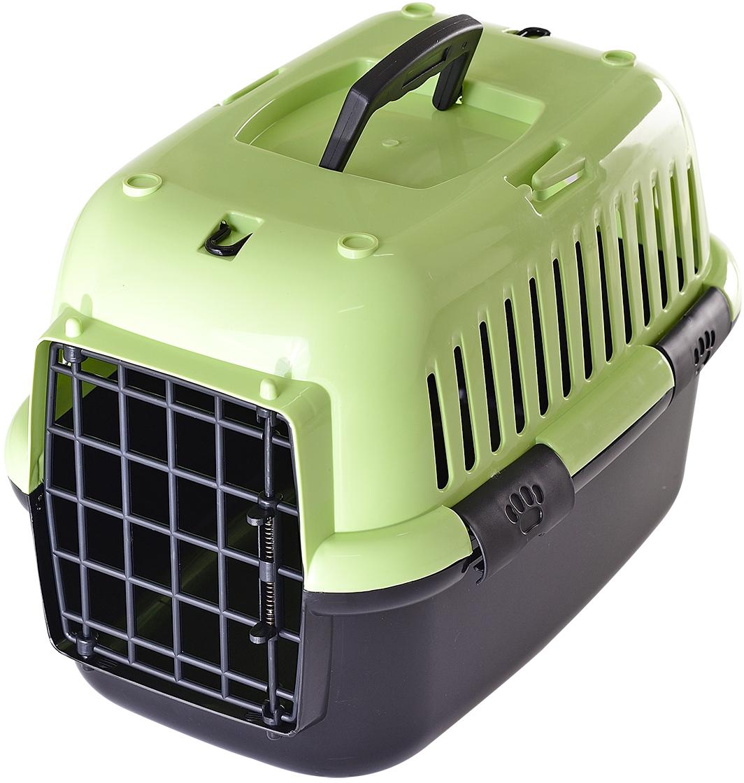 Переноска для животных Fauna Explorer Color, цвет: зеленый, черный, 42 х 28 х 29 смFITP-8020Переноски имеют пластиковые дверцы, надежные замки. Корпуса выполнены из прочного пластика.