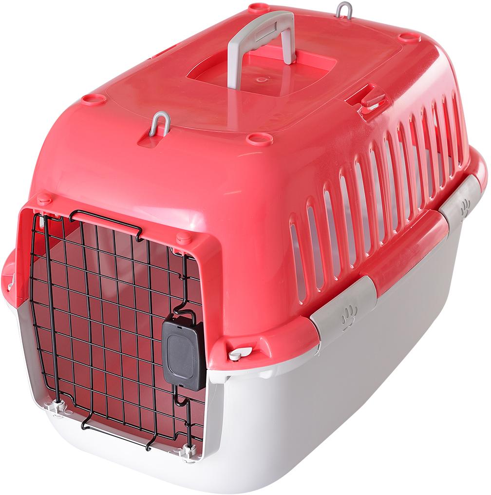 Переноска для животных Fauna  Explorer Sport , цвет: розовый, серый, 57 х 38 х 38 см - Переноски, товары для транспортировки