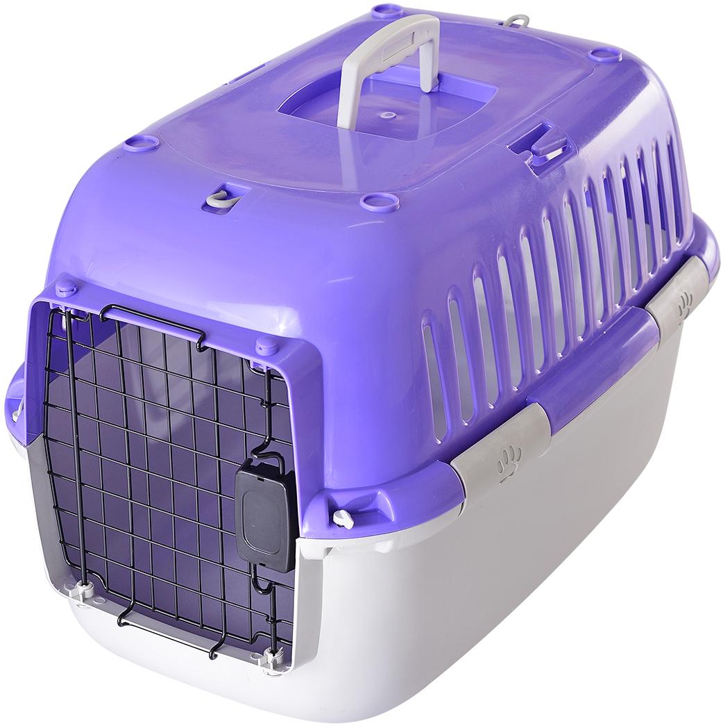 Переноска для животных Fauna Explorer Sport, цвет: фиолетовый, серый, 57 х 38 х 38 смFITP-8017Переноски имеют металлические дверцы, надежные замки. Корпуса выполнены из прочного пластика.