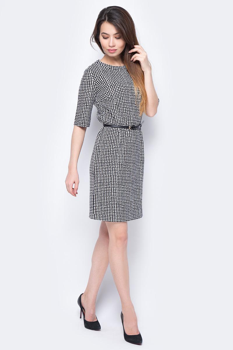 Платье Sela, цвет: черный. Dks-117/1141-8111P. Размер XS (42) смеситель grohe eurosmart new 33265002 для раковины хром
