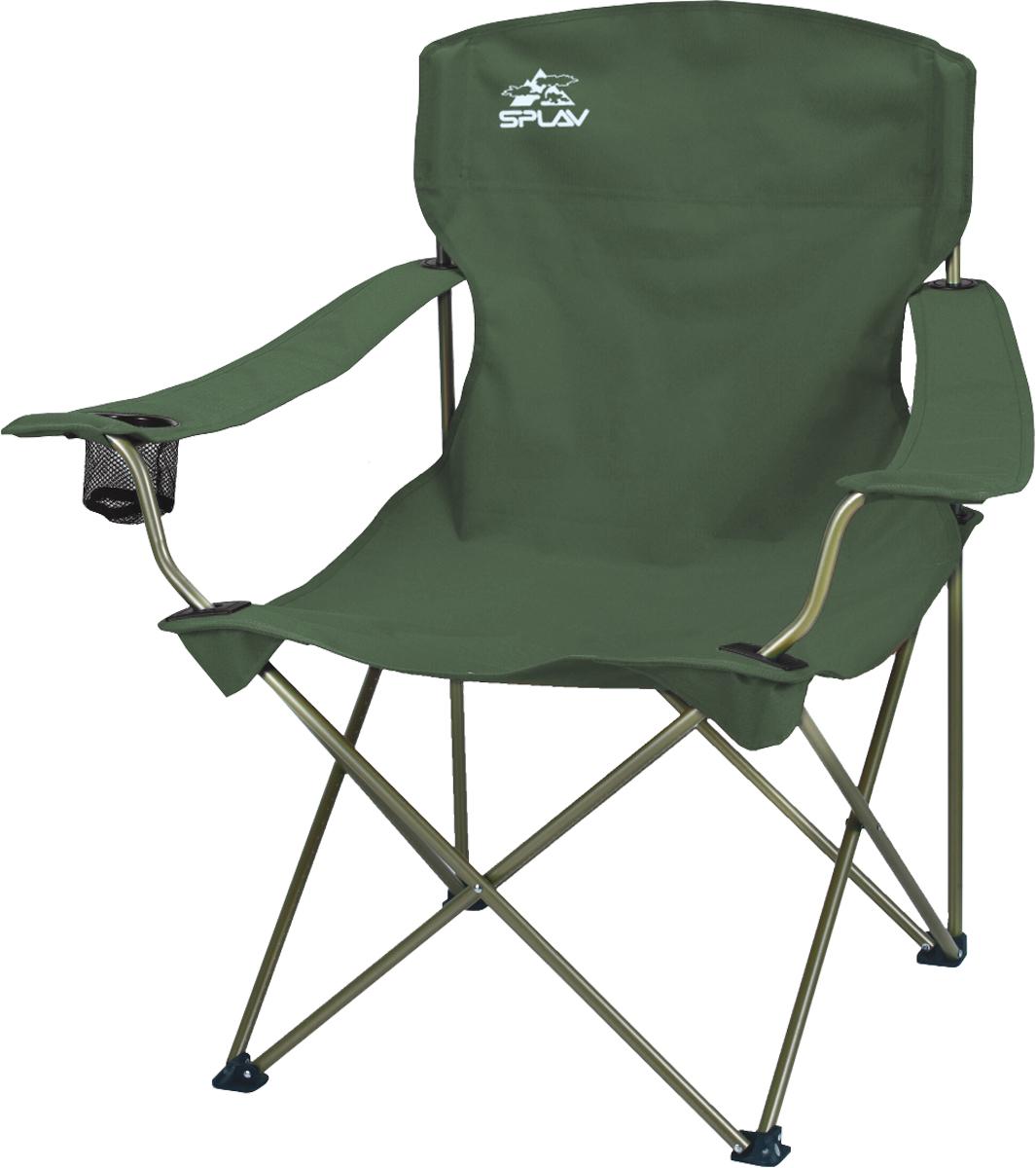 Кресло складное Сплав кемпинговое, цвет: темно-зеленый5113291Комфортное кресло для отдыха на природе Прочный стальной каркас, износостойкое сидение из полиэстера На одном из подлокотников расположено отделение для стакана В комплекте имеется чехол для удобства хранения и переноскиКак известно, на огонь, воду и на то, как другие работают можно смотреть бесконечно. Вам гораздо удобнее будет это делать в уютном кресле с баночкой пива или бокалом красного вина в руке.Кстати, в подлокотнике этого кресла предусмотрено специальное отделение для стакана или фляги.Крепкий стальной каркас и дышащее, прочное, износостойкое сидение из полиэстера составляют комфортное кресло, которое быстро пакуется в чехол (?15 95 см) и разбирается одним движением.При собственном весе в 3.3 кг, кресло выдерживает нагрузку до 100 кг.Размер в сложенном состоянии: ?15?95 см Размеры посадочного места: высота от земли: 42 см ширина: 60 см глубина: 55 см высота спинки: 50 см Вес: 3,3 кг Максимальная нагрузка 100 кг