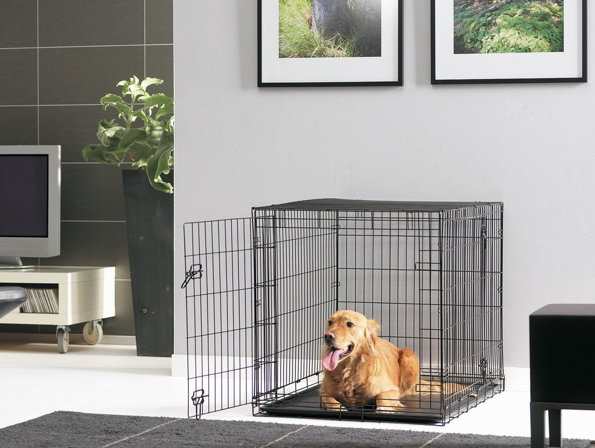 Переноска-клетка для животных Savic Cottage, цвет: черный, 118 х 77 х 84 см3315-0011Переноска-клетка металлическая. Черная