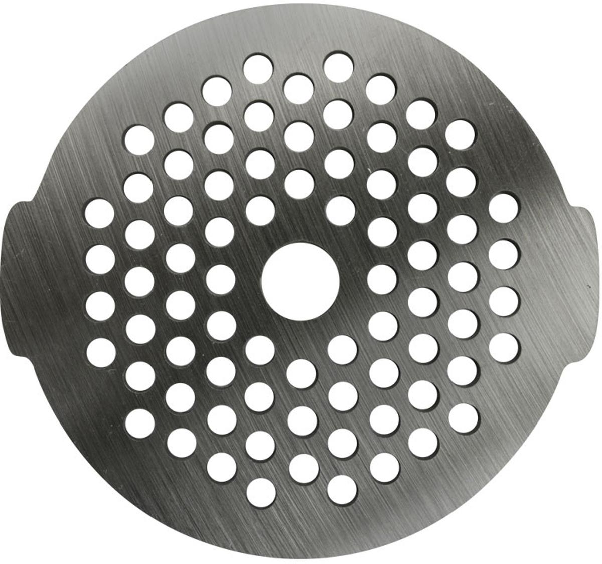 Euro Kitchen GR3-3 решетка для мясорубкиGR3-3Решетка Euro Kitchen GR3-3 предназначена для работы с электрическими мясорубками марки Bosch. Она с легкостью заменит фирменную деталь, не уступив ей по качеству и сроку службы. Высокая производительность и долгий срок службы современных электрических и ручных мясорубок зависят, в первую очередь, от режущих механизмов и их выработки. Своевременная профилактика и замена режущих ивспомогательных элементов способствуют уменьшению нагрузки на узлы и другие механизмы, гарантируя долгую и качественную работу вашей мясорубки. Диаметр отверстий в решетке: 3 мм.