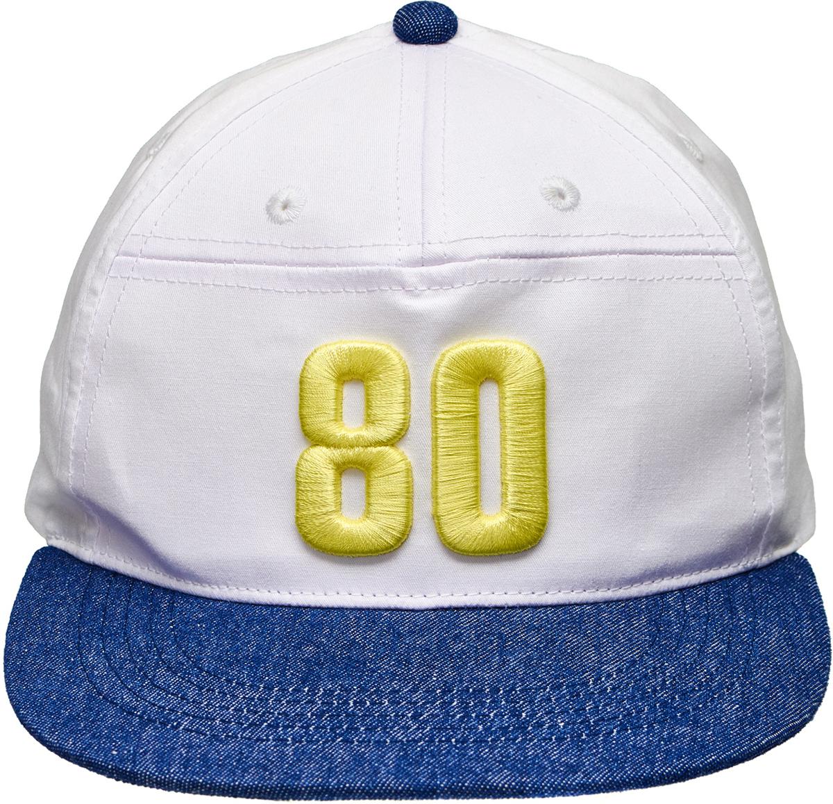Бейсболка для мальчика Button Blue, цвет: белый, синий. 118BBBX7101D100. Размер 54 шапка для мальчика button blue цвет синий 217bbbx73054000 размер 52