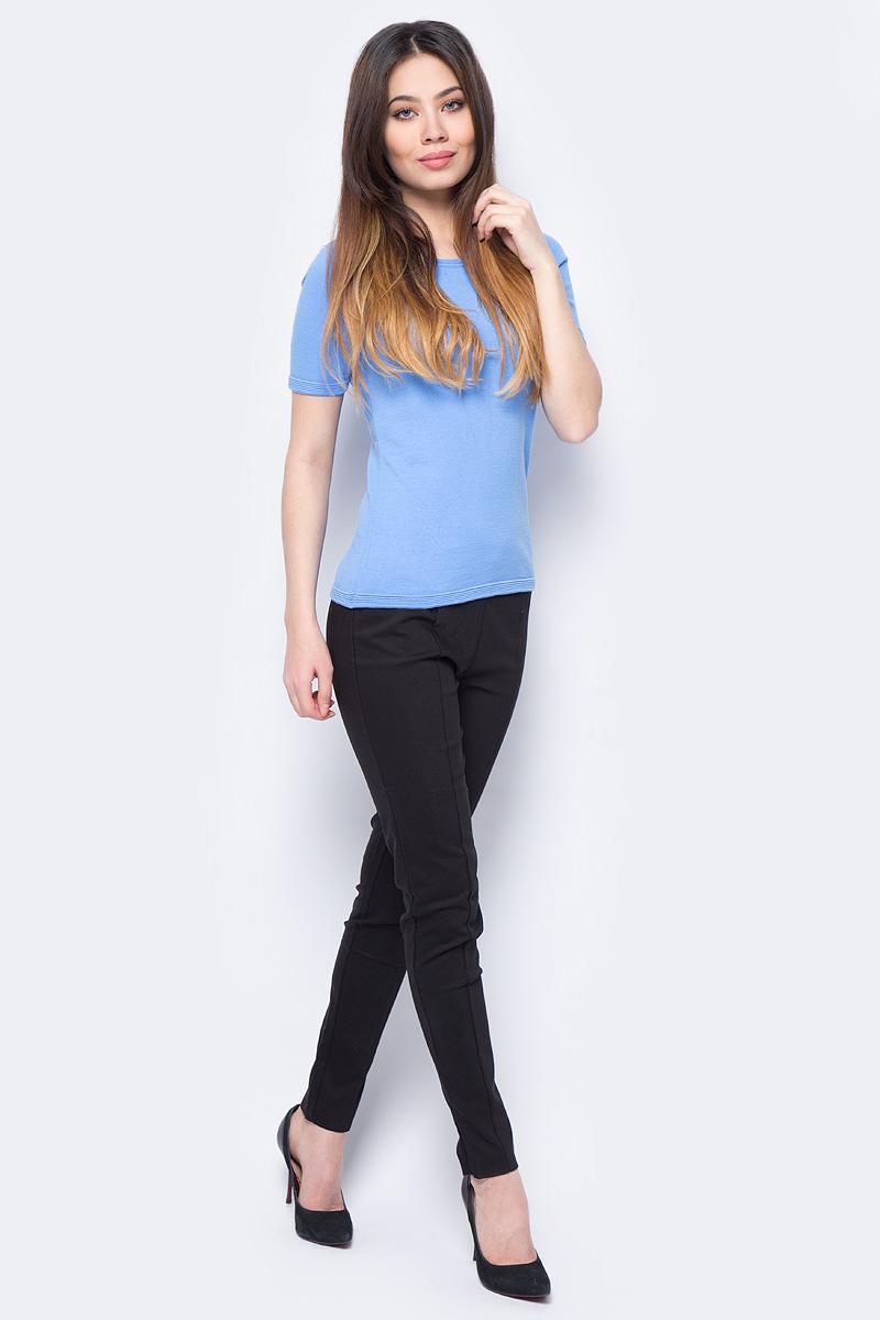 Брюки женские Sela, цвет: черный. P-115/200-8131. Размер 48 брюки женские sela цвет пепельно персиковый p 115 102 7244 размер 48