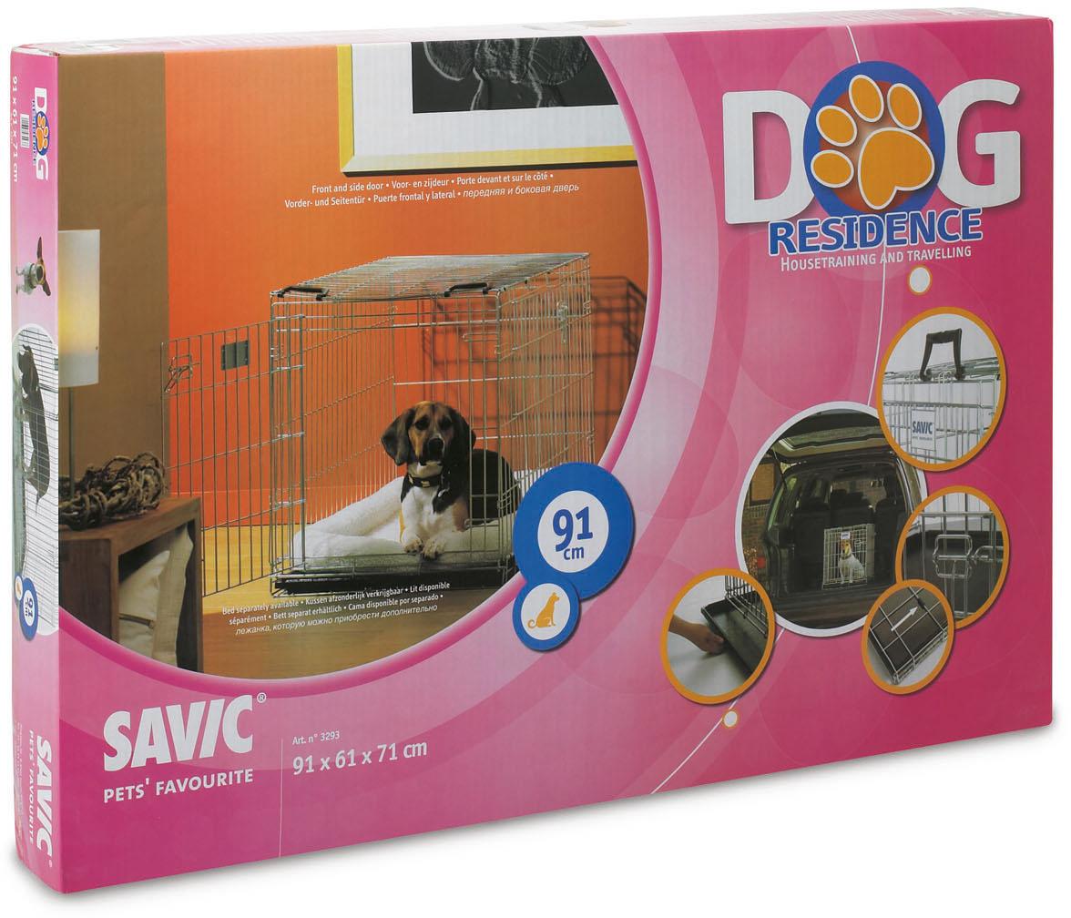 Переноска-клетка для животных Savic Residence, цвет: серый, 91 х 61 х 71 см paradise residence 3
