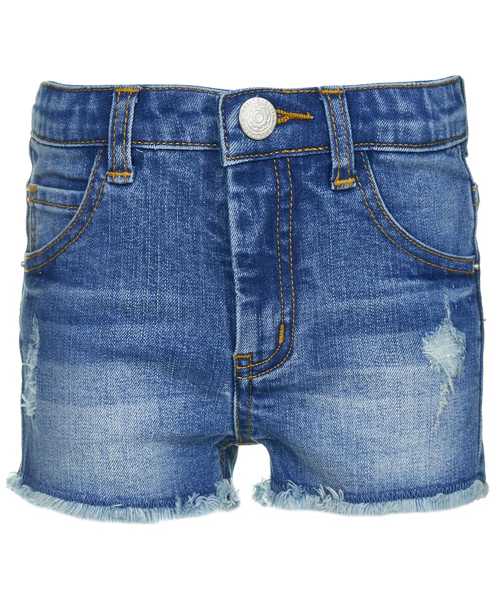 Шорты для девочки Button Blue, цвет: голубой. 118BBGC6001D200. Размер 128118BBGC6001D200Короткие джинсовые шорты для девочек - модная и удобная одежда. Модель в поясе застегивается на пуговицу, имеет ширинку на молнии и шлевки для ремня. Шорты имеют классический пятикарманный крой. Чтобы удачно пополнить ребенку летний гардероб, можно дешево купить детские шорты от Button Blue из джинсовой ткани. Модель отвечает всем требованиям современной моды, к тому же она удобна и комфортабельна. В ней можно заниматься активным отдыхом и гулять, использовать ее для повседневного ношения.