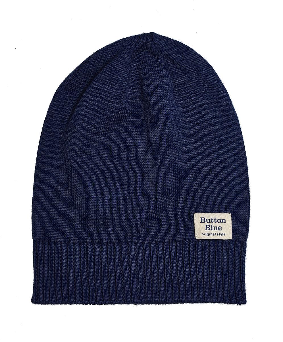 Шапка для мальчика Button Blue, цвет: темно-синий. 118BBBX73031000. Размер 56 шапка для мальчика button blue цвет синий 217bbbx73054000 размер 52