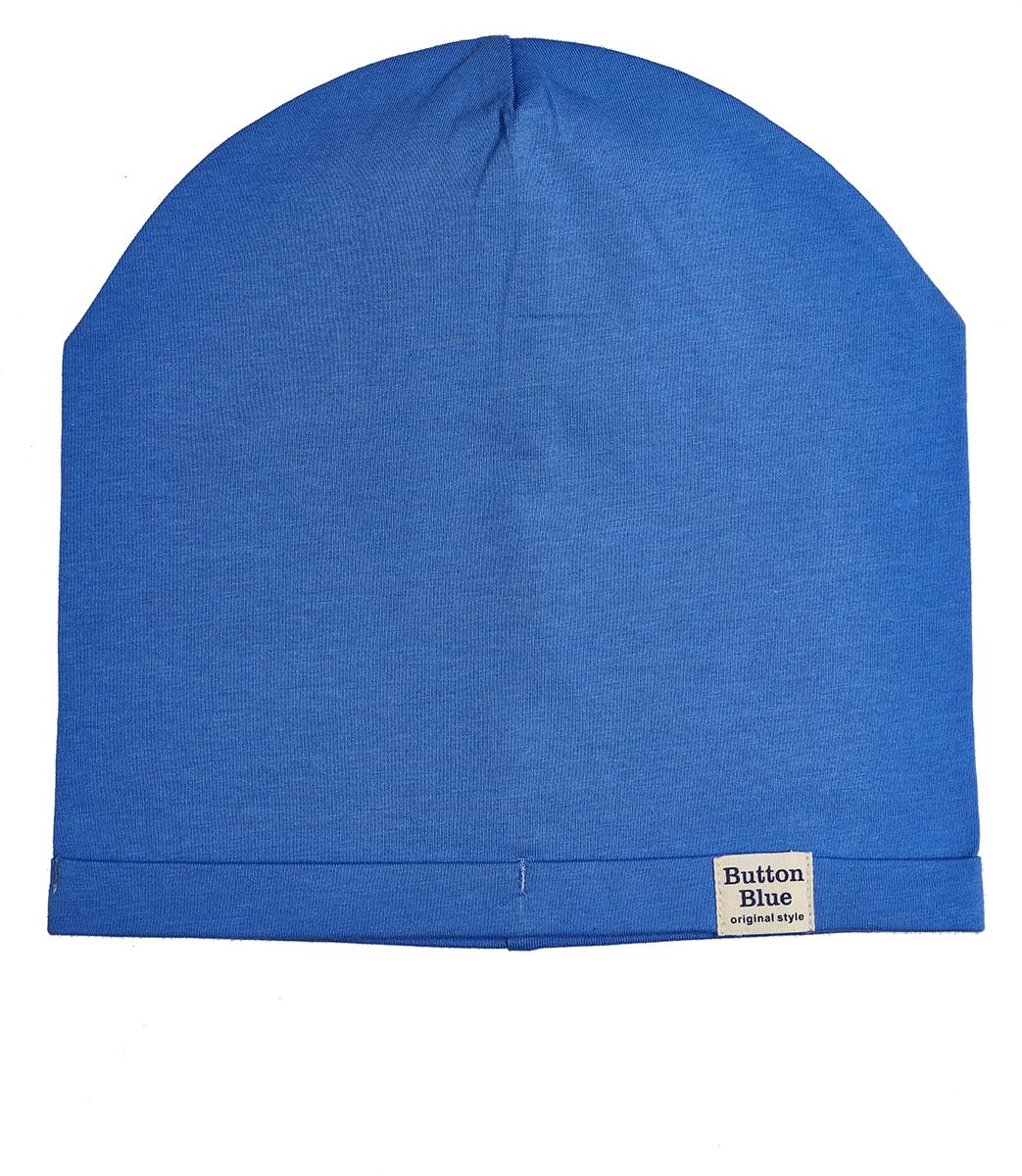 Шапка для мальчика Button Blue, цвет: синий. 118BBBX73013700. Размер 52118BBBX73013700Модная шапка из трикотажа - то что нужно, чтобы пополнить весенний гардероб ребенка. Если вы хотите недорого приобрести качественную и практичную вещь, можно купить шапку для мальчика от Button Blue, модель, отвечающую всем требованиям качества и стиля. Цвет шапки сочетается с различными цветовыми палитрами, модными в этом сезоне.