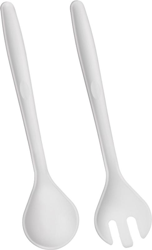 Набор для сервировки салата Metaltex, 2 предмета25.13.21Набор для сервировки салата Metaltex включает специальную ложку и вилку.Изделия выполнены из прочного пищевого полипропилена. Ими очень удобносервировать и перемешивать салаты, особенно овощные. Приборы легкие и незанимаютмного места при хранении, кроме того, они легко моются, гигиеничны, ненакапливают запахов.