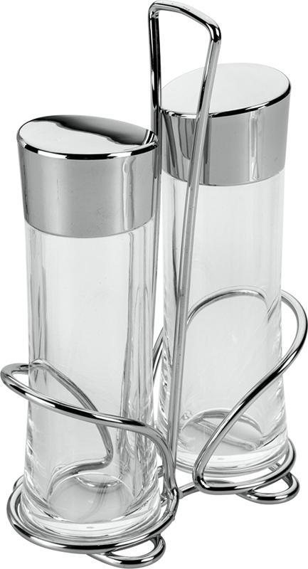 Набор банок для масла и уксуса Metaltex, 2 шт25.28.72Набор масло/уксус, материал изготовления - акрил, хромированная крышка, хромированная подставка.