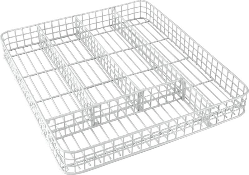 Корзина для столовых приборов. Имеет 5 секций, идеальный помощник на вашей кухне для размещения кухонного инвентаря. Специальное покрытие металла LDPE plastic - пластик низкого давления. Устойчив к действию воды, не реагирует с щелочами, с растворами солей, органическими и неорганическими кислотами.