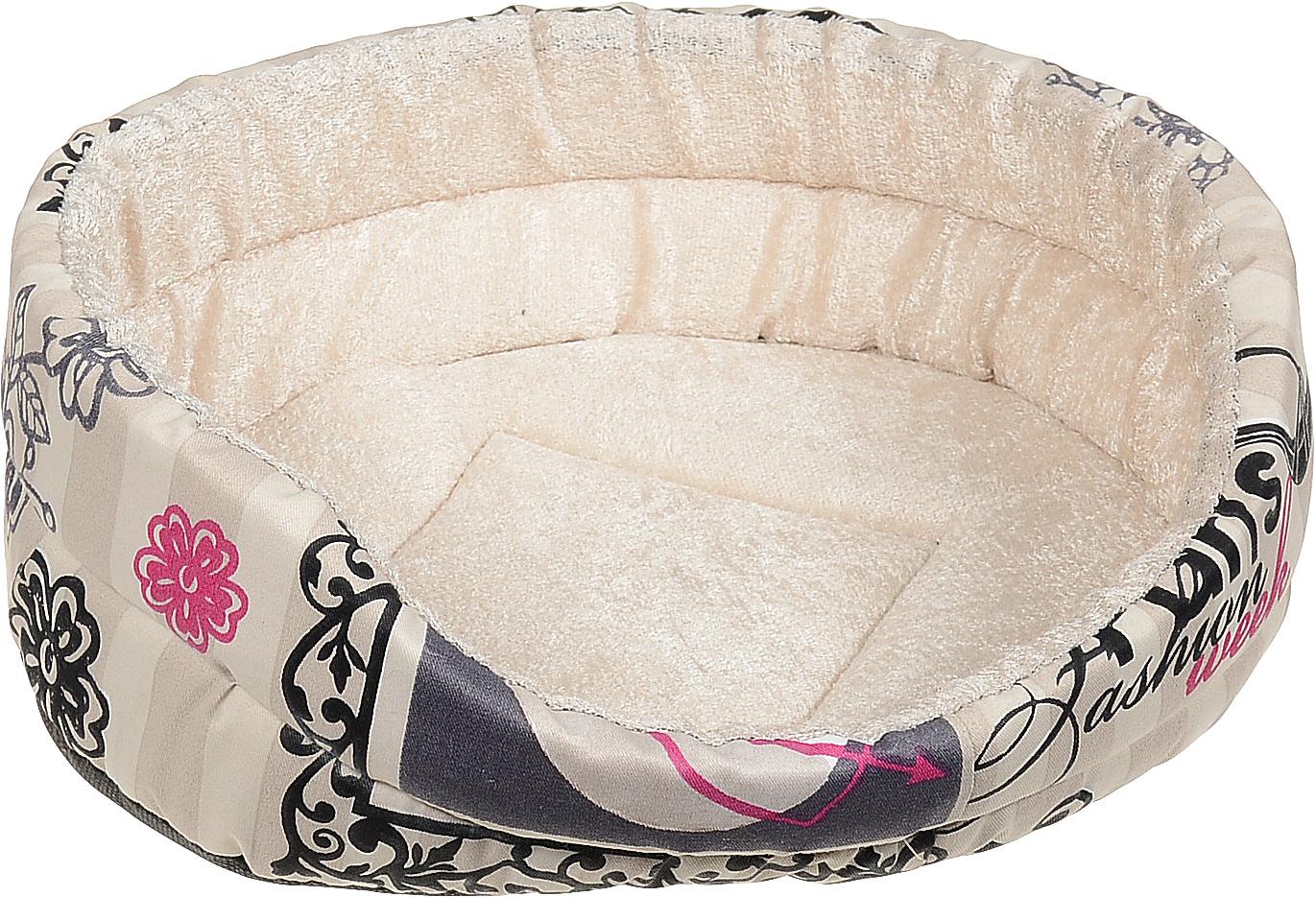 Лежак для собак GLG Малютка, цвет: бежевый, 37 х 30 х 11 см мягкий сон