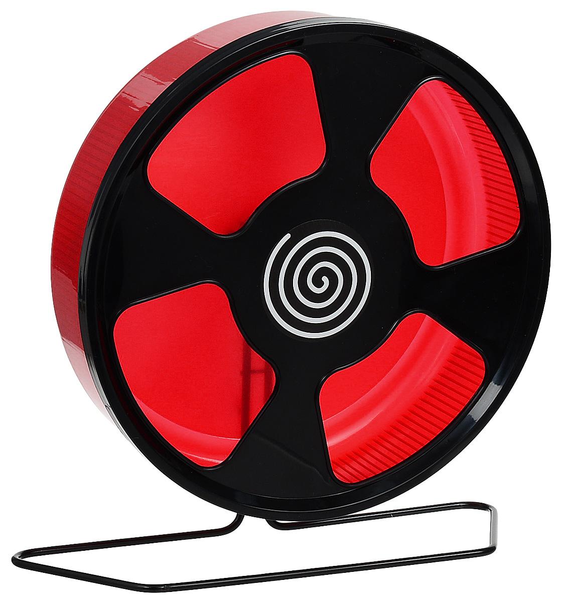 Колесо для грызунов Trixie, на подставке, цвет: красный, черный, диаметр 28 смCGR203XКолесо для грызунов Trixie - удобное и бесшумное, с высоким уровнем безопасности. Поместивего в клетку, вы обеспечите своему питомцу необходимую физическую активность. Сплошнаявнутренняя поверхность без щелей убережет питомца от возможных травм. Можно установить наподставку или прикрепить к решетке.Колесо можно использовать для дегу, крыс или молодых шиншилл.Диаметр колеса: 28см.