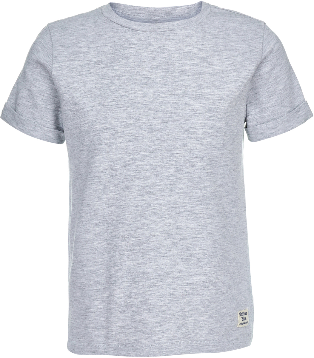 Футболка для мальчика Button Blue, цвет: серый. 118BBBC12011900. Размер 146118BBBC12011900Легкая трикотажная однотонная футболка от Button Blue - идеальная одежда на лето для мальчика. Футболка с коротким рукавом изготовлена из эластичного хлопка. Круглый вырез горловины дополнен трикотажной резинкой. Такая футболка станет основой множества образов, а универсальный цвет модели позволяет ей удачно смотреться в сочетании с самыми разными цветами и оттенками.