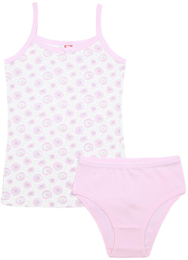 Комплект белья для девочки Cherubino: майка, трусы, цвет: розовый. CAJ 3336. Размер 152/158 цена