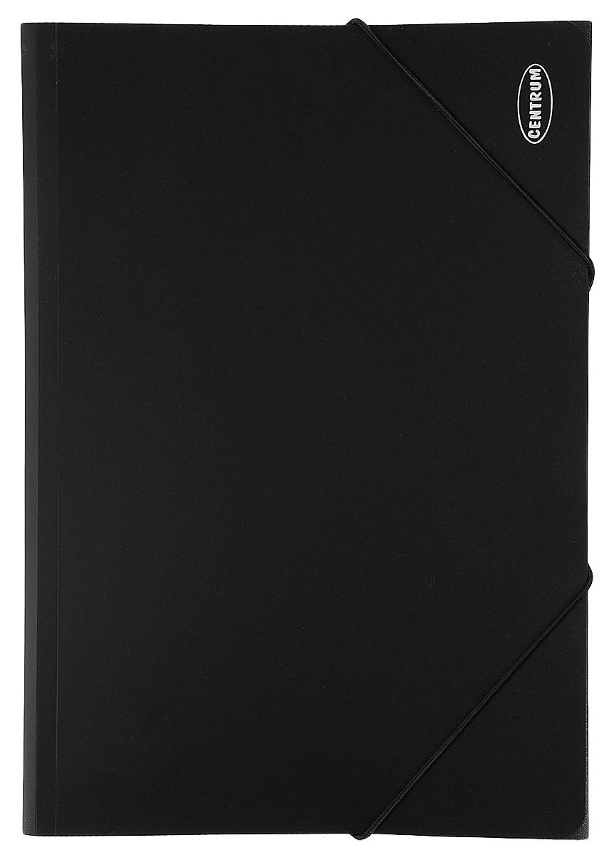 Папка на резинках Centrum пластиковая, формат А4, цвет: черный80016_черный