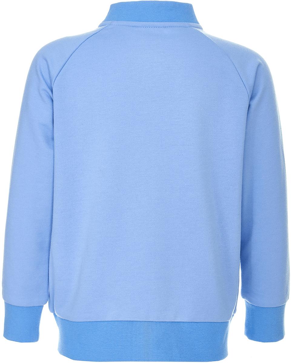 Толстовка для мальчика Button Blue, цвет:  голубой.  118BBBC16023700.  Размер 128 Button Blue