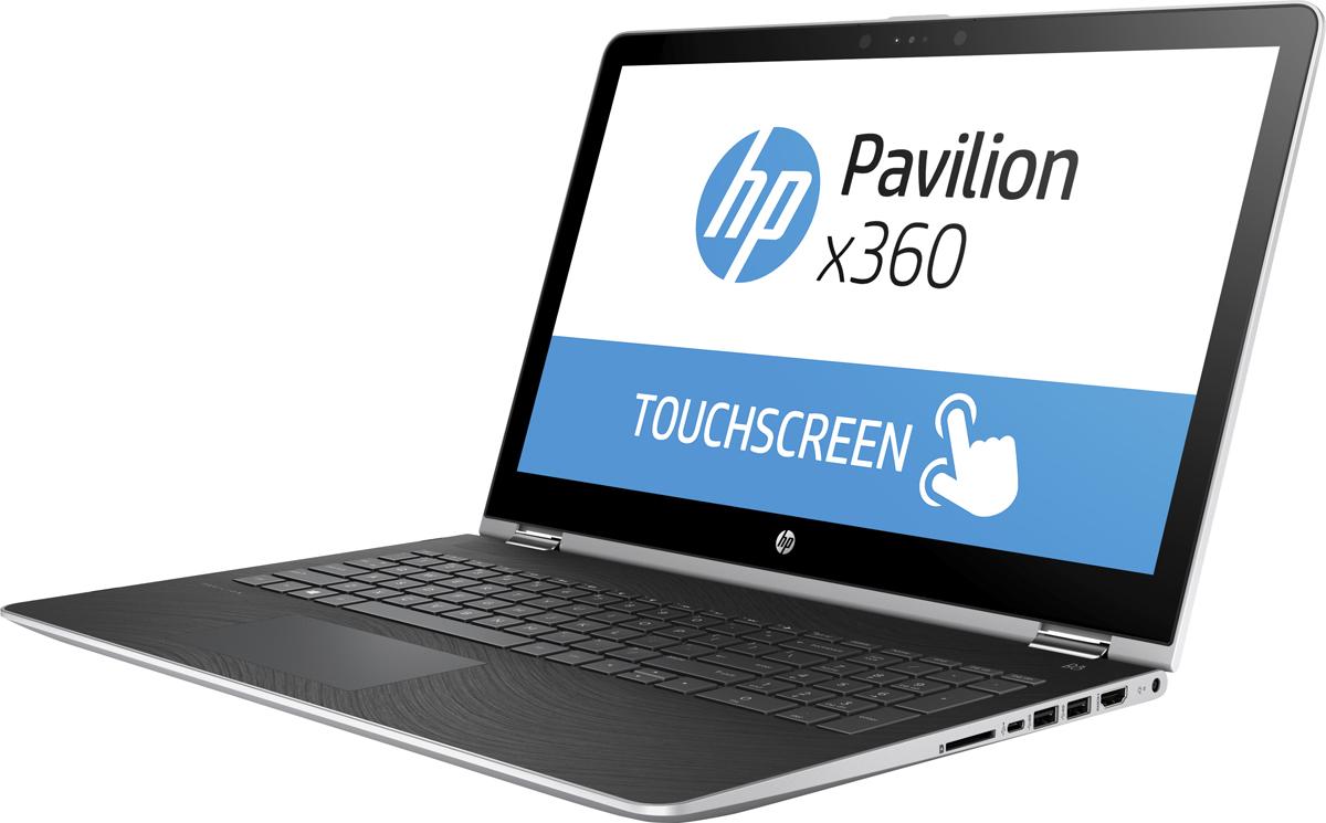 HP Pavilion x360 15-br011ur, Pike Silver (1ZA56EA)1000434236Больше возможностей для создания, подключения и взаимодействия, чем когда-либо. Поддержка стилуса превращает Pavilion x360 в универсальное устройство, на котором можно делать все, что нравится.Процессоры Intel Core 7-го поколенияЭто высокопроизводительное решение легко справится с большим количеством задач, улучшая возможности работы с ПК и обеспечивая потрясающее качество видео с разрешением 4K.Добивайтесь большегоБыстрое и удобное выполнение нескольких задач одновременно благодаря высокой скорости и мощности устройства. Будьте уверены в сохранности ценных файлов на вместительном жестком диске объемом до 1 Тбайт.Работайте, пишите, играйте с максимальным удобствомБлагодаря надежному креплению с углом разворота 360° вы можете выбрать удобное положение для работы, ввода данных, игр и просмотра видео. Ноутбук легко превращается в планшет для создания заметок и рисования, не уступающий по удобству ручке с бумагой.Непревзойденное качество звукаНоутбук подарит невероятно насыщенное и реалистичное звучание благодаря двум динамикам HP, технологии HP Audio Boost и профессиональной аудиосистеме, настроенной специалистами B&O PLAY. Живите в ритме любимой музыки. Сенсорный дисплей Full HD IPSБлагодаря широкому углу обзора 178° и ярким цветам изображение на экране будет отлично выглядеть с любой стороны. Используйте возможности сенсорного экрана для управления ПК.Варианты ОЗУ DDR4Память DDR4 — это будущее ОЗУ. Она отличается большей эффективностью, надежностью и скоростью работы. Расширение полосы пропускания способствует увеличению производительности всех процессов для эффективной работы в многозадачном режиме и высокой скорости обработки компьютерных игр.Ноутбук оснащен камерой HP Wide Vision HD с двумя встроенными цифровыми микрофонами.Точные характеристики зависят от модификации.Ноутбук сертифицирован EAC и имеет русифицированную клавиатуру и Руководство пользователя