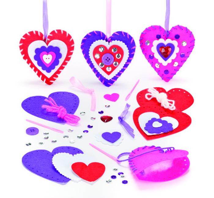 Baker Ross Набор для изготовления игрушек Сделай подвески Сердечки