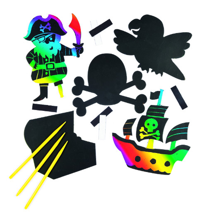 Baker Ross Набор гравюр Пираты
