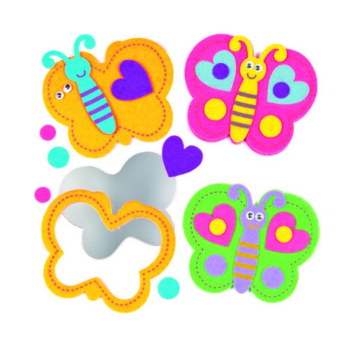 Baker Ross Набор для изготовления игрушек Сделай бабочку-зеркальце baker ross набор для изготовления магнитов рыбки