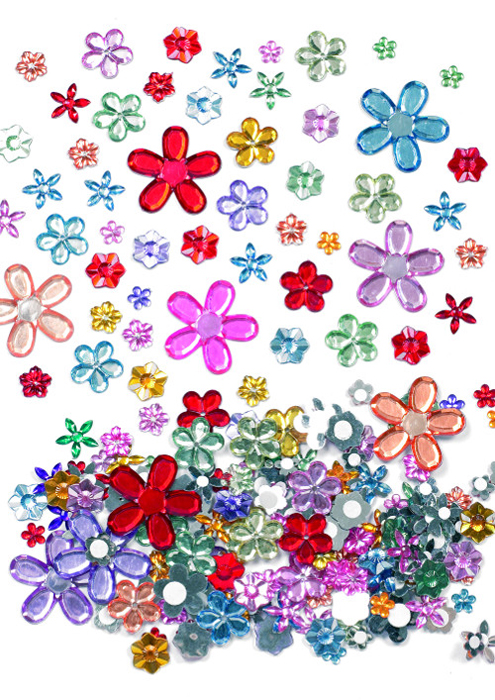 Baker Ross Набор наклеек Стразы клеевые Цветы