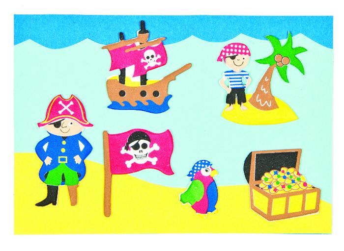 Baker Ross Набор наклеек Пираты