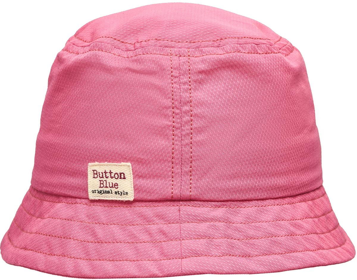 Панама для девочки Button Blue, цвет: розовый. 118BBGX70011200. Размер 54118BBGX70011200Для дополнительной защиты от солнца можно купить девочке детскую летнюю панаму от Button Blue. Она защитит голову от перегрева, лицо от воздействия прямых солнечных лучей. Ну а отличный дизайн обеспечит не только комфорт, но и привлекательность панамы для своей владелицы.Панама прекрасно подойдет к любому наряду, подчеркнет его легкость и добавит в образ свежую нотку.