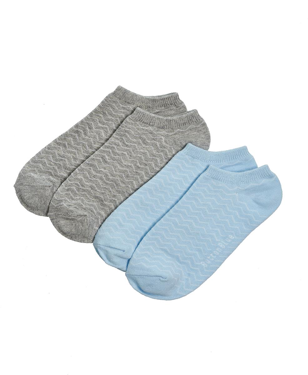 Носки для девочки Button Blue, цвет: серый, голубой, 2 пары. 118BBGU85021913. Размер 22
