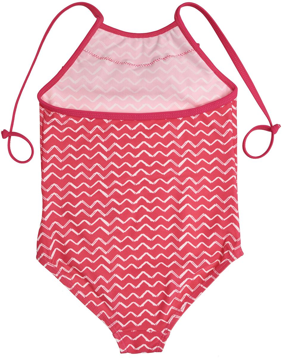 Купальник слитный для девочки Button Blue, цвет:  розовый.  118BBGU80011213.  Размер 116/122 Button Blue