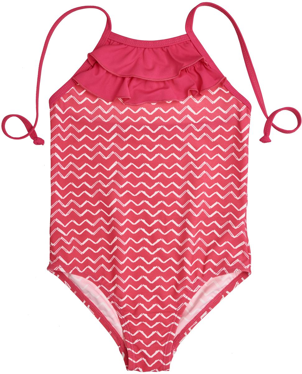 Купальник слитный для девочки Button Blue, цвет: розовый. 118BBGU80011213. Размер 152118BBGU80011213Купальник для плавания - то, без чего не должен обходиться ни один ребенок! Для бассейна или поездок на море слитный купальник идеален. Купить недорого купальник для девочки розового цвета, декорированный оборками, значит порадовать ее полезным и красивым приобретением. Модель удобно надевается, не стесняет движений и выглядит мило и модно. В таком купальнике девочка будет чувствовать себя очень комфортно, а это самое главное.