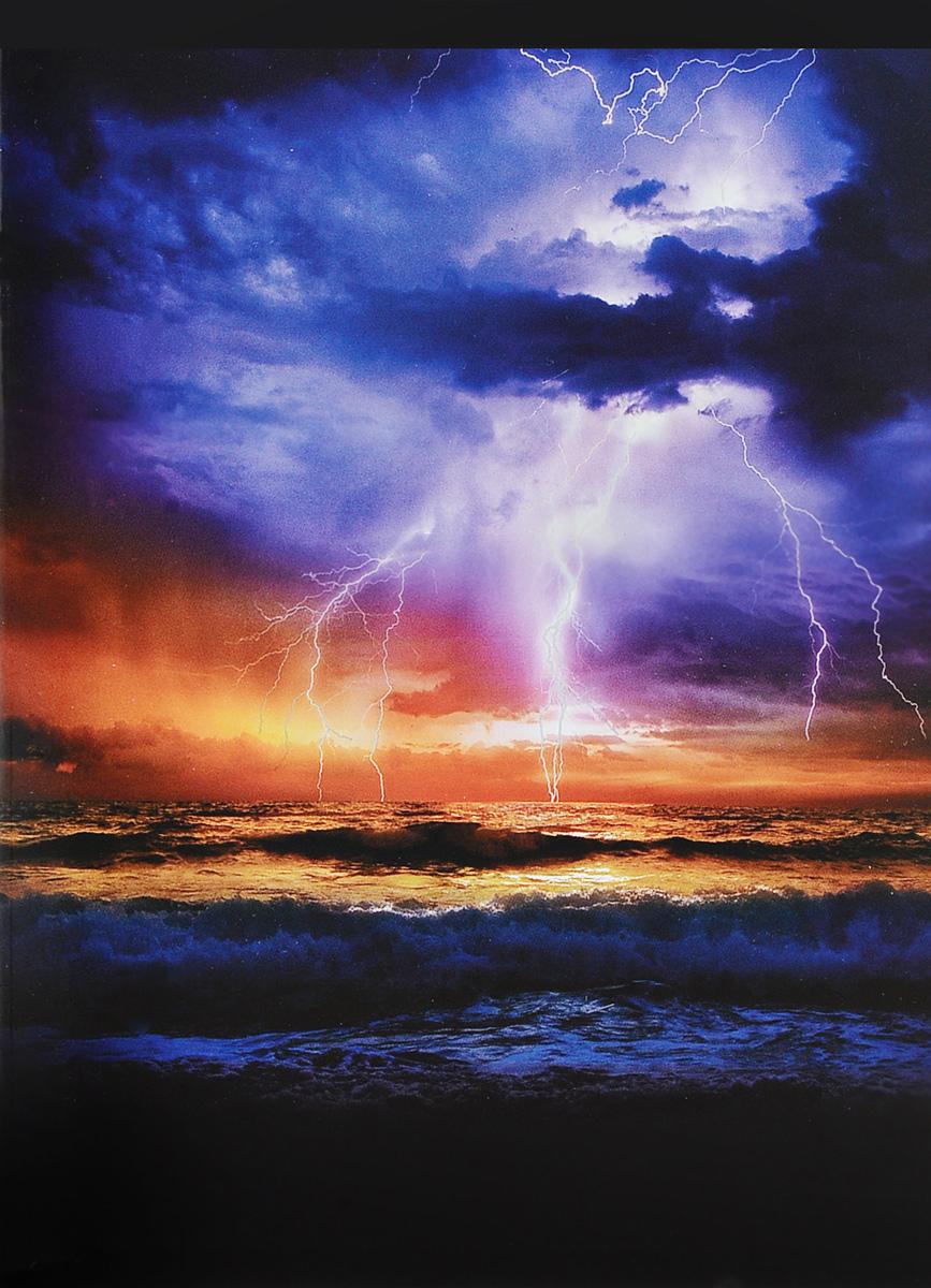 Канц-Эксмо Тетрадь Сила природы 96 листов в клетку цвет фиолетовый, оранжевыйТГ965269_фиолетовый, оранжевый