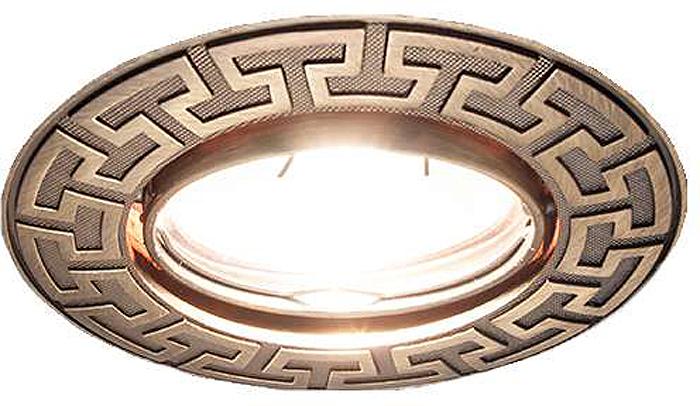 Светильник встраиваемый ITALMAC Afina 51 1 19, литой поворот, MR16, цвет: состаренная бронза. IT8400