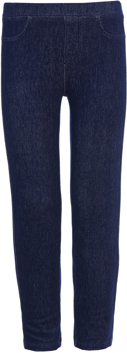 Леггинсы для девочки Button Blue, цвет: синий. 118BBGC5604D100. Размер 140118BBGC5604D100Детские леггинсы - удобная и практичная одежда для лета. Купить леггинсы для девочки, значит обеспечить ее модным и функциональным предметом гардероба, который можно носить с повседневной одеждой или использовать для активного отдыха. Эти леггинсы имитируют брюки, благодаря чему являются идеальной вещью на каждый день.