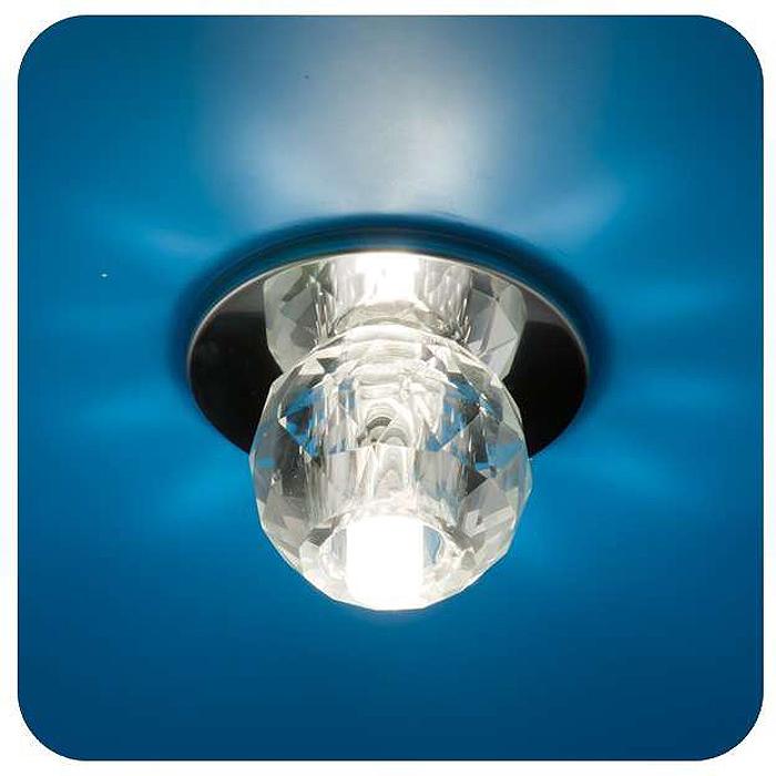 Светильник встраиваемый ITALMAC Ice 12 1 05, шар, цвет: хром, G4. IT8063 растровые встраиваемые светильники 3х14w встраиваемый 600х600
