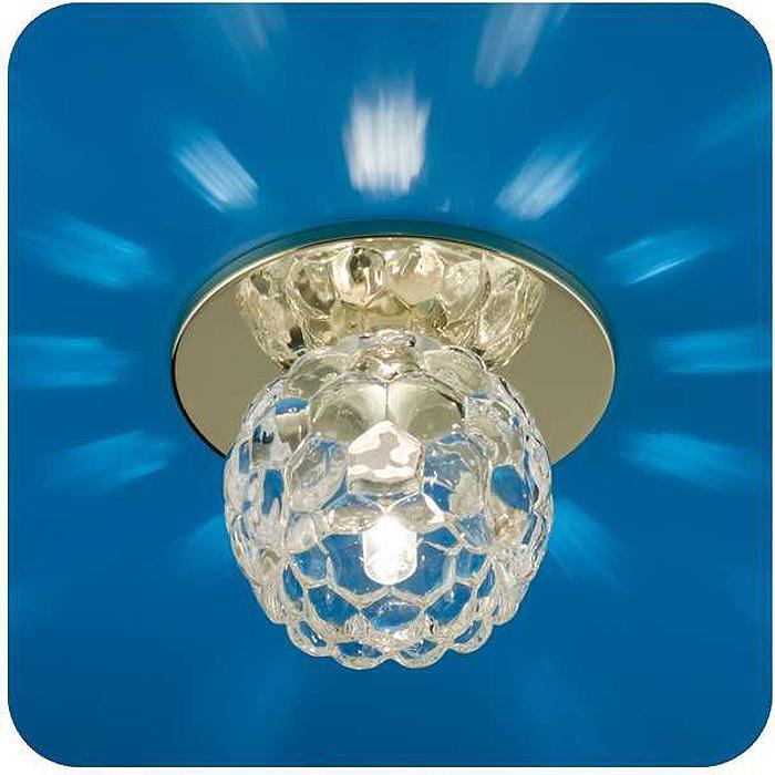 Светильник встраиваемый ITALMAC Ice 12 5 04, цветок, цвет: золотистый, G4/G5.3. IT8168 растровые встраиваемые светильники 3х14w встраиваемый 600х600