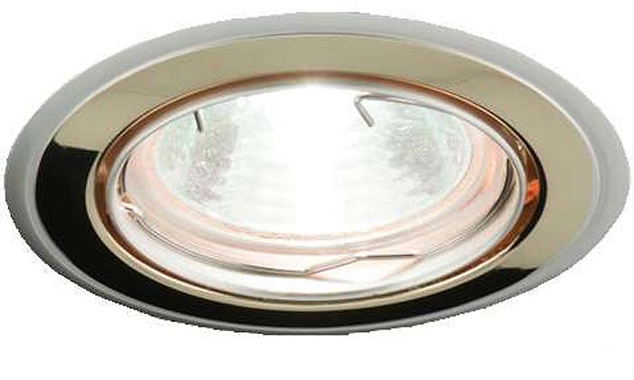 Светильник встраиваемый поворотный ITALMAC Nika 51 1 22, литой, комбинированный, MR16, цвет: золотистый, никель. IT8166 растровые встраиваемые светильники 3х14w встраиваемый 600х600