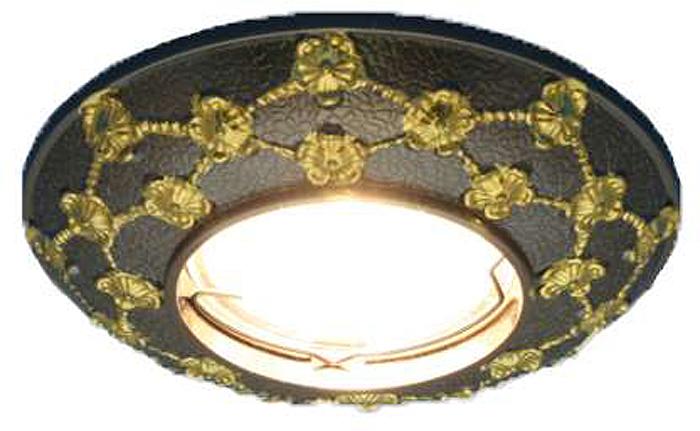 Светильник встраиваемый неповоротный ITALMAC Regal 51 3 45, литой, MR16, цвет: бронза, золотистый. IT8459 растровые встраиваемые светильники 3х14w встраиваемый 600х600