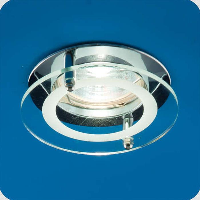 Светильник встраиваемый ITALMAC Quartz 51 2 05, с накладным стеклом, круглый MR16, цвет: хром. IT8056 растровые встраиваемые светильники 3х14w встраиваемый 600х600