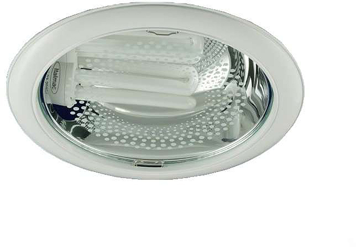 Светильник встраиваемый ITALMAC Downlight 226 03 01, круглый, 2х26 Вт, E27, со стеклом, цвет: белый. IT8144 растровые встраиваемые светильники 3х14w встраиваемый 600х600